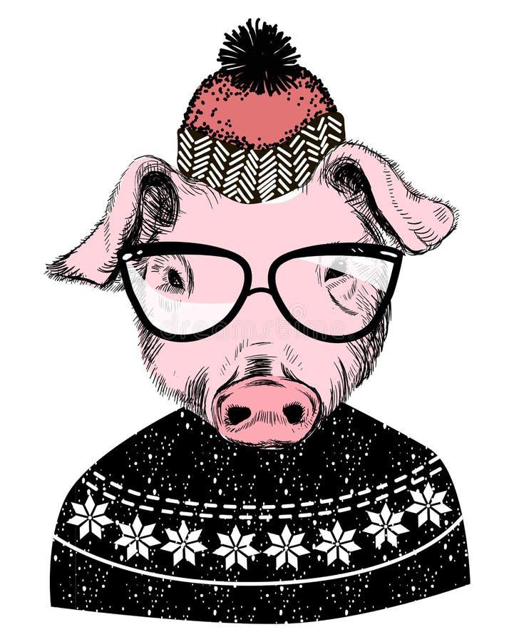 Deseamos a Feliz Navidad 2019 tarjetas de saludo de la invitación stock de ilustración