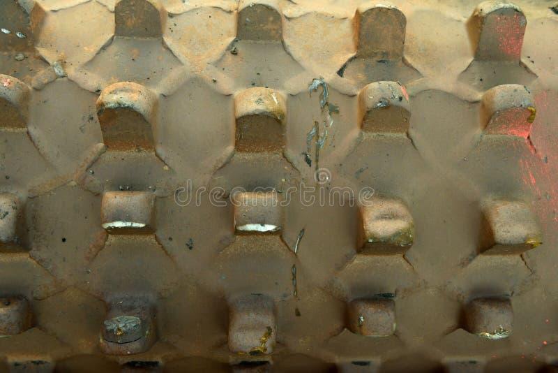 Deseche el metal del hierro con los modelos, las formas, las formas y las texturas abstractos imagen de archivo libre de regalías
