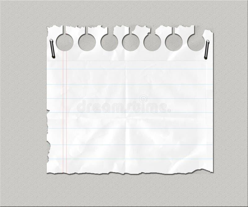 Desecho de papel alineado blanco libre illustration