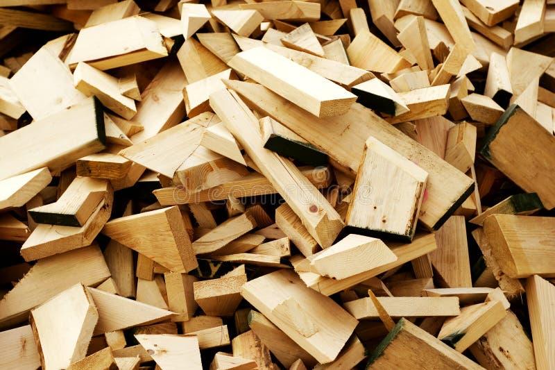 Desechos de la madera de construcción imagenes de archivo