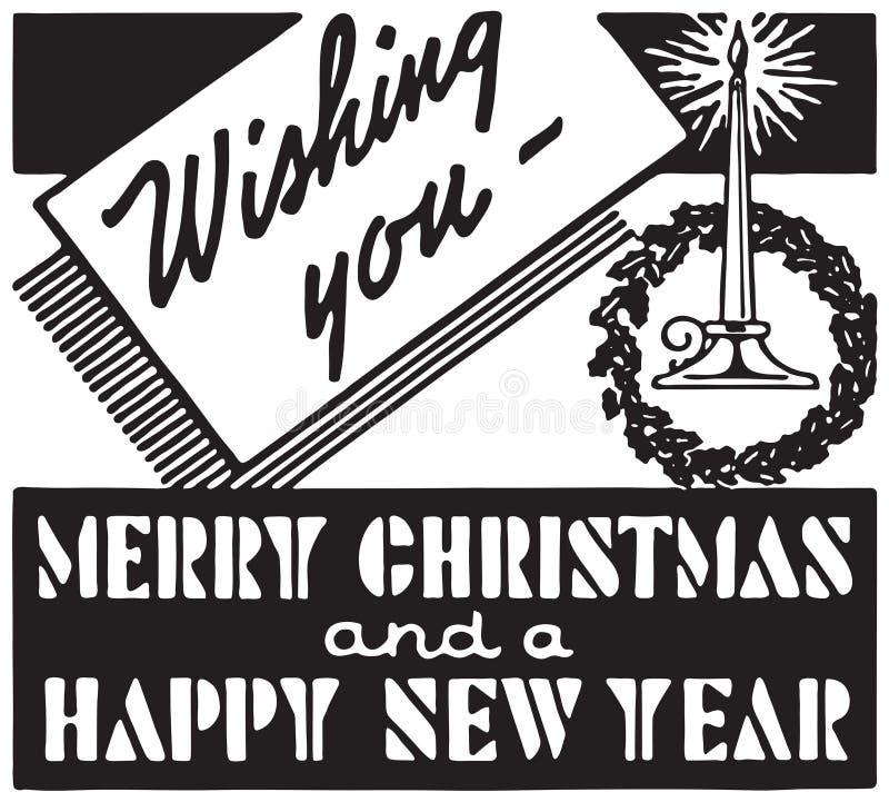 Desejando lhe o Feliz Natal ilustração royalty free