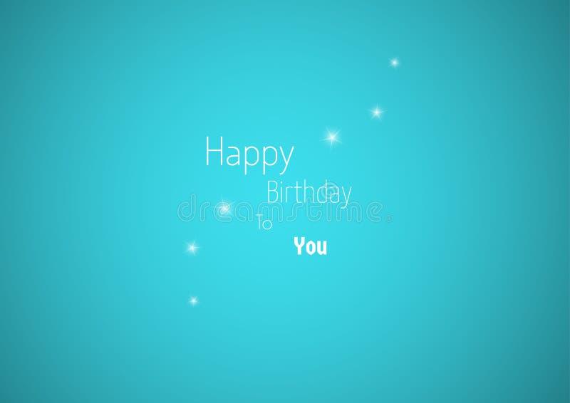 Desejo do feliz aniversario com estrelas ilustração royalty free