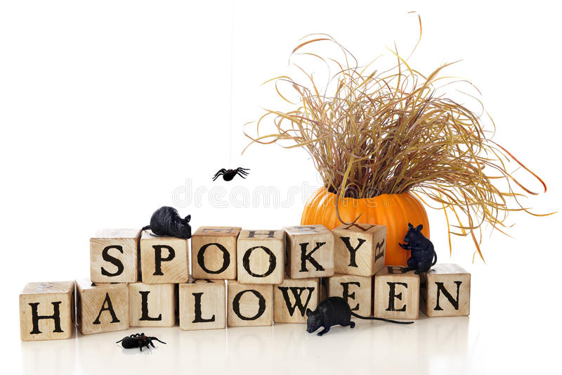 Desejos assustadores de Halloween fotografia de stock royalty free