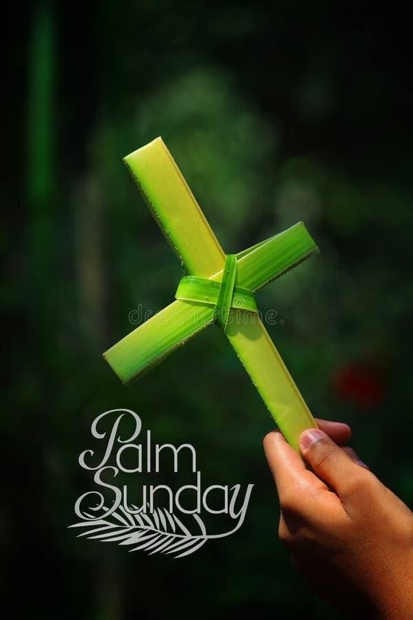 Desejos de domingo de palma fotografia de stock