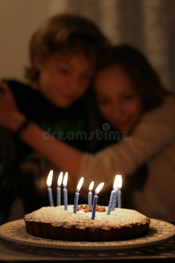 Desejos do aniversário fotos de stock