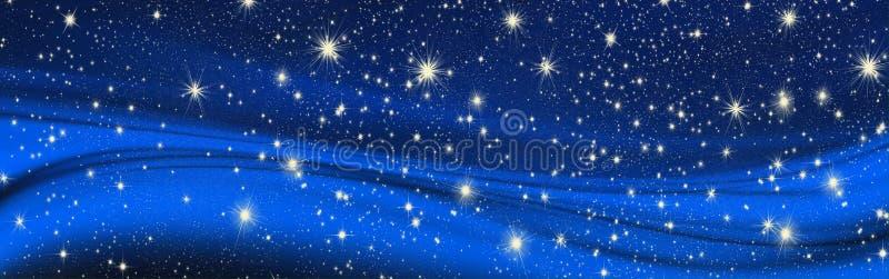 Desejos do Natal, curva com estrelas, fundo imagens de stock