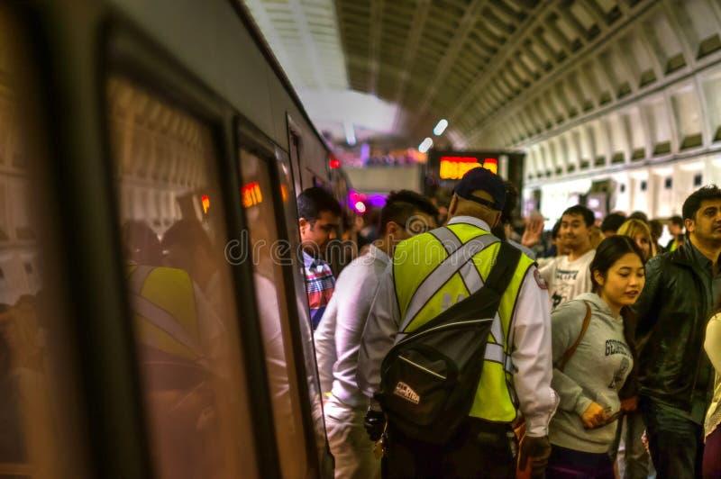 Desembarque do metro do Washington DC fotos de stock