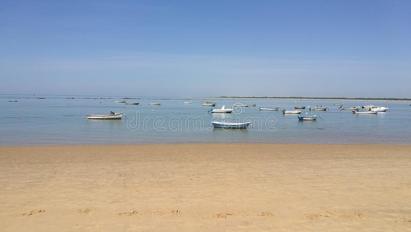 Desembocadura del río Guadalquivir Sanlúcar royalty free stock image