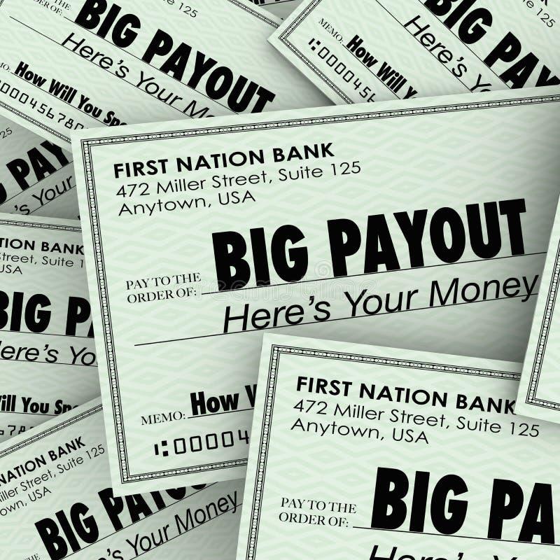 Desembolso grande muchos controles Rich Wealthy Money Pile ilustración del vector