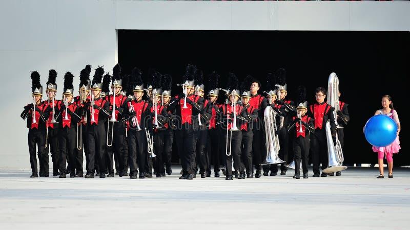 Download Desempenho Da Faixa Militar Durante NDP 2012 Imagem de Stock Editorial - Imagem de trombone, independência: 26521614