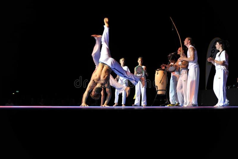 Desempenho de Capoeira fotografia de stock royalty free