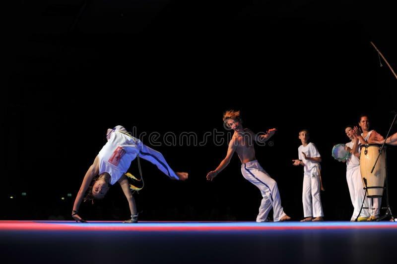 Desempenho de Capoeira foto de stock