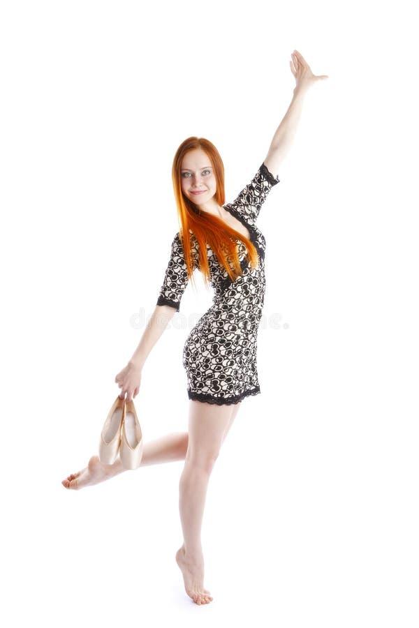 Desempenho de uma bailarina fotografia de stock royalty free