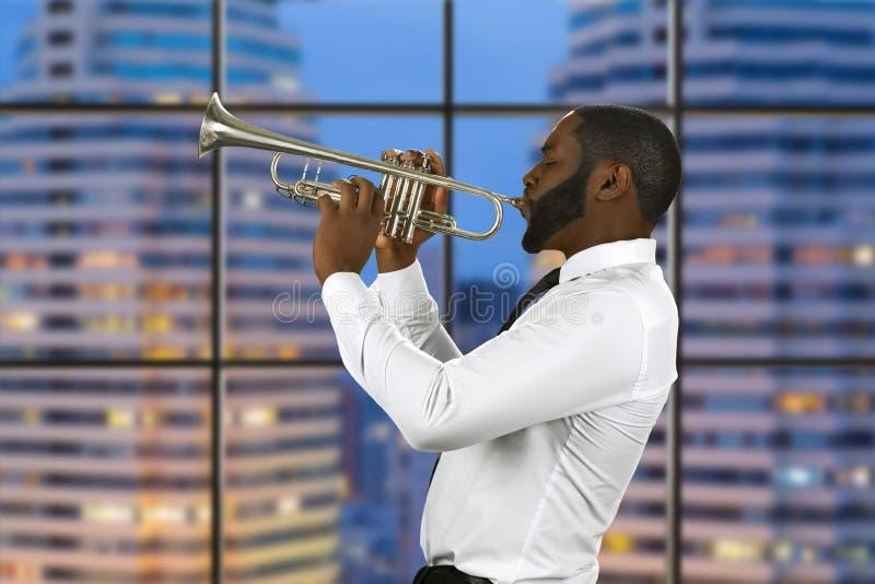 Desempenho do jazz na megalópole fotografia de stock
