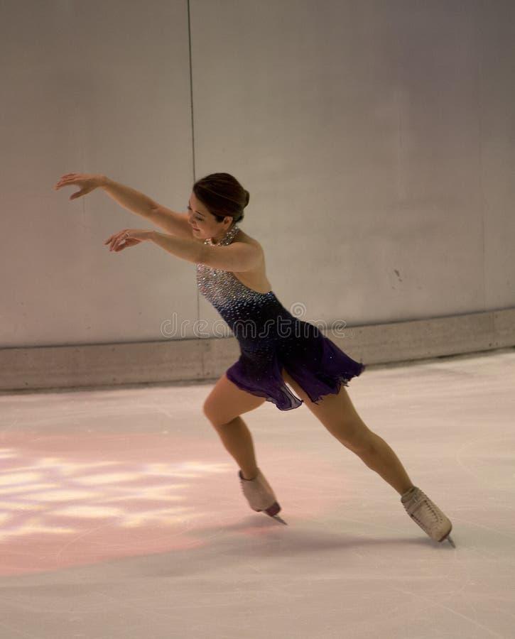 Desempenho olímpico da patinagem artística de YuKa SaTo do campeão 1994 fotografia de stock royalty free