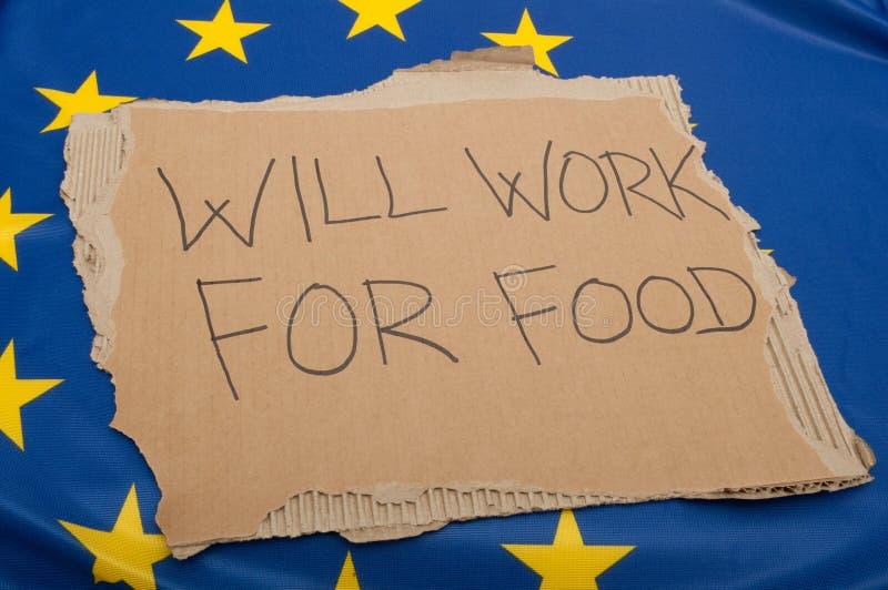 Desempleo en la unión europea fotografía de archivo libre de regalías
