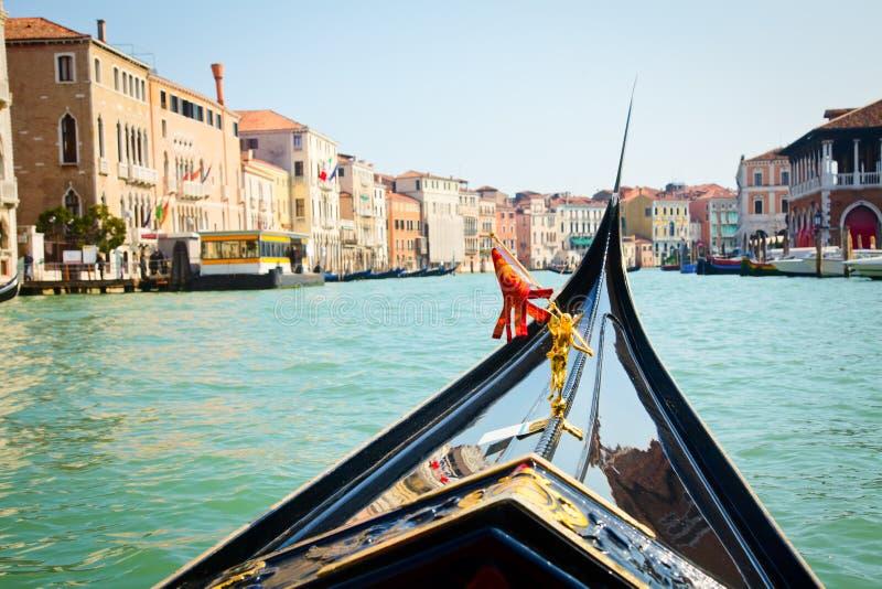 Desengate da gôndola em Veneza imagens de stock
