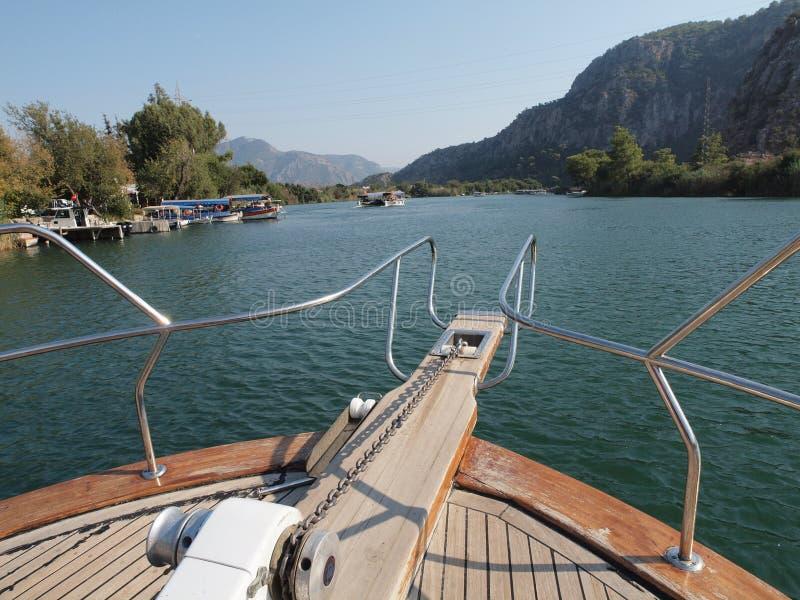 Desengate do barco em Turquia imagem de stock