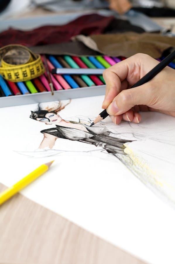 Desenhador de moda imagem de stock royalty free
