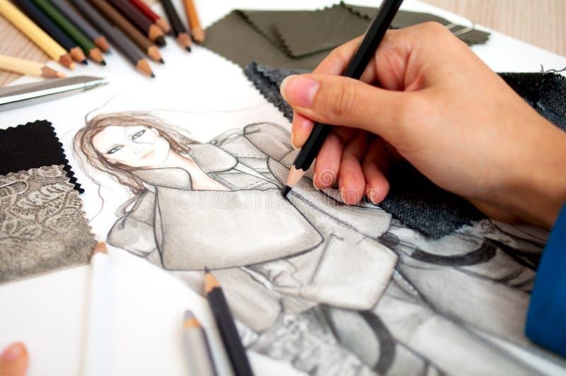 Desenhador de moda foto de stock