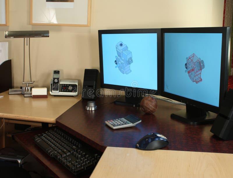 Desenhador do CAD foto de stock