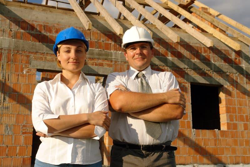 Desenhadores do edifício imagens de stock