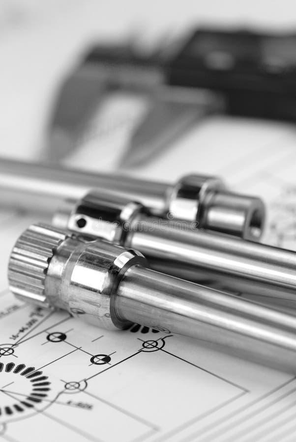 Desenhar com compasso de calibre fotos de stock royalty free