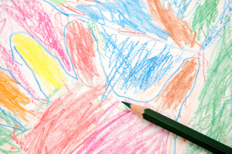Desenhar como uma criança fotografia de stock