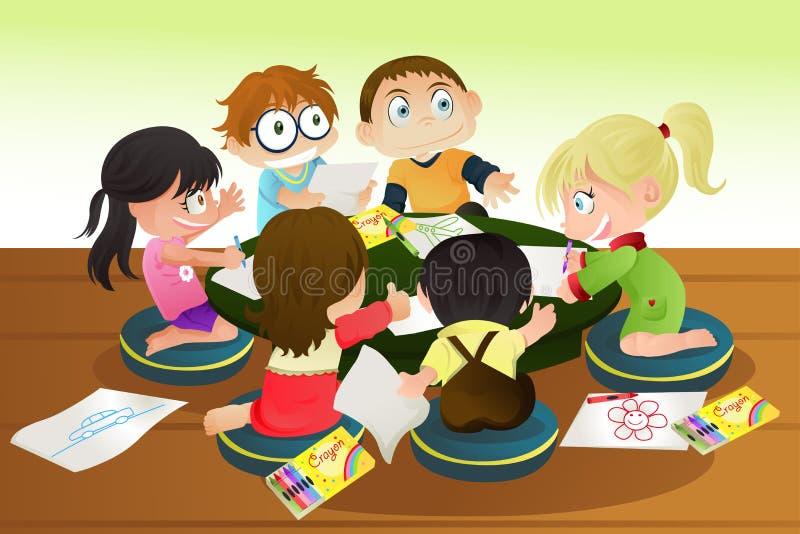 Desenhar das crianças ilustração do vetor