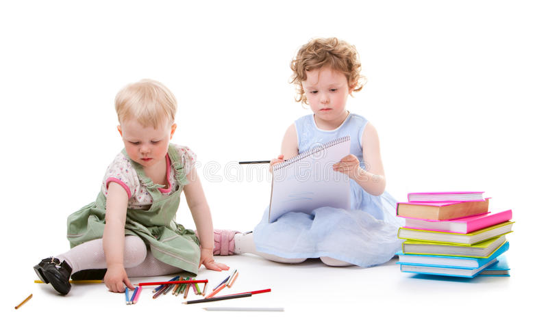 Desenhar das meninas foto de stock royalty free