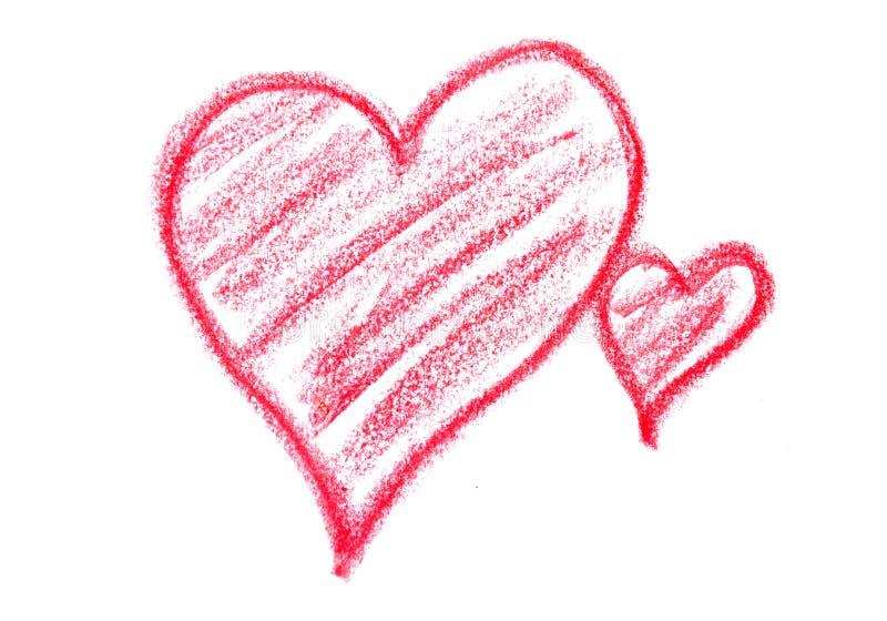 Desenhe corações imagem de stock