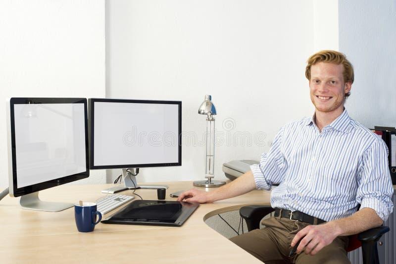 Desenhista do CAD imagens de stock