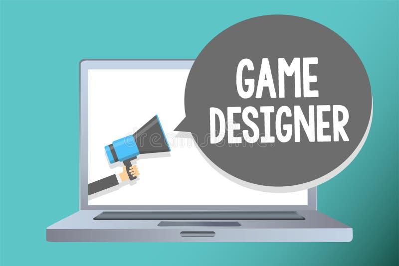 Desenhista do jogo da escrita do texto da escrita Os gráficos Scripting dos consoles de programadores 3D do pixel do militante do ilustração do vetor