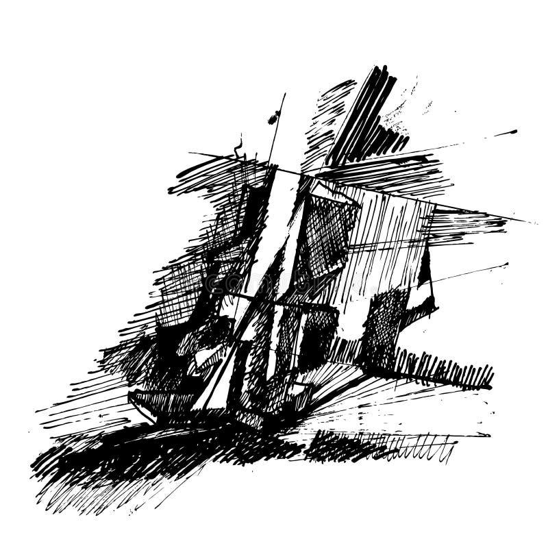 Desenho abstrato ilustração royalty free