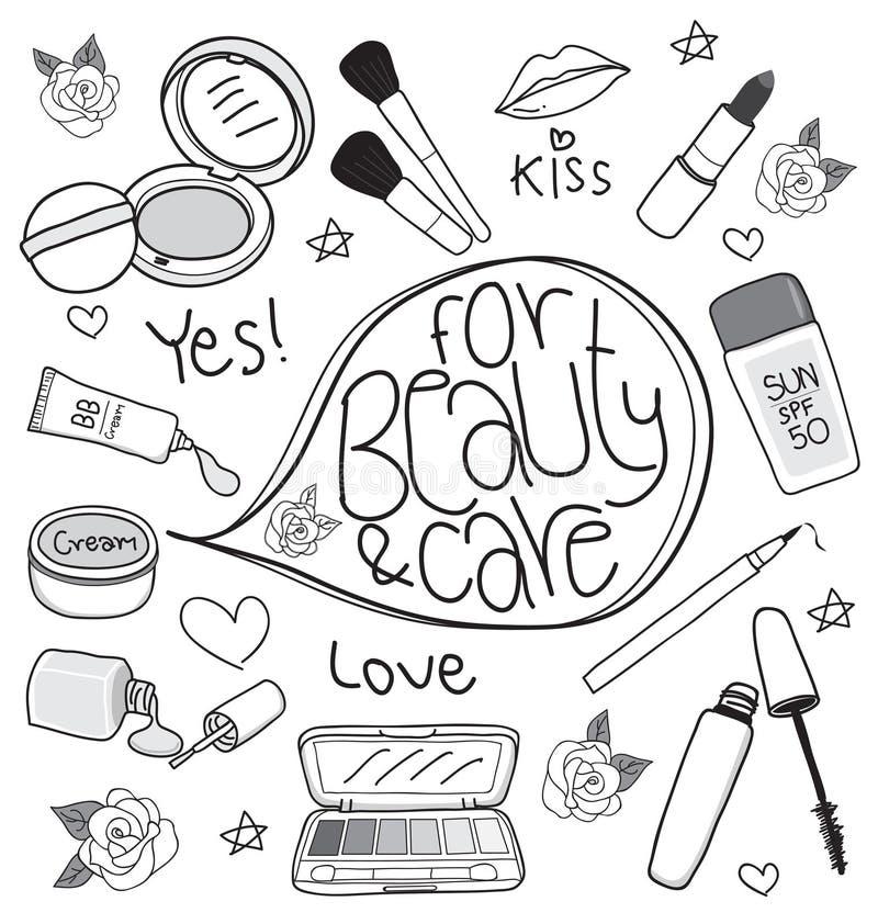 Desenho ajustado cosméticos fotos de stock royalty free