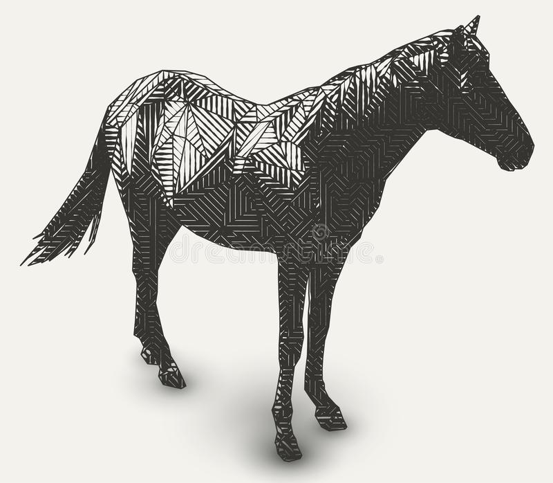 Desenho animal geométrico ilustração royalty free