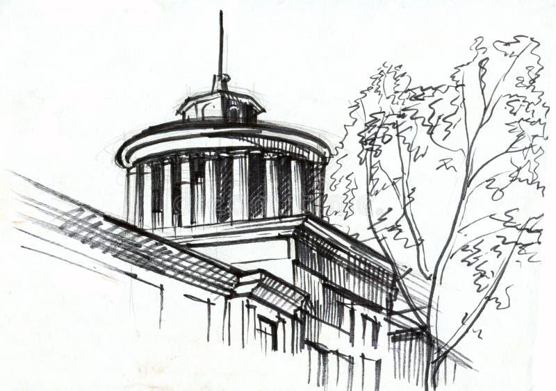 Desenho arquitectónico ilustração royalty free