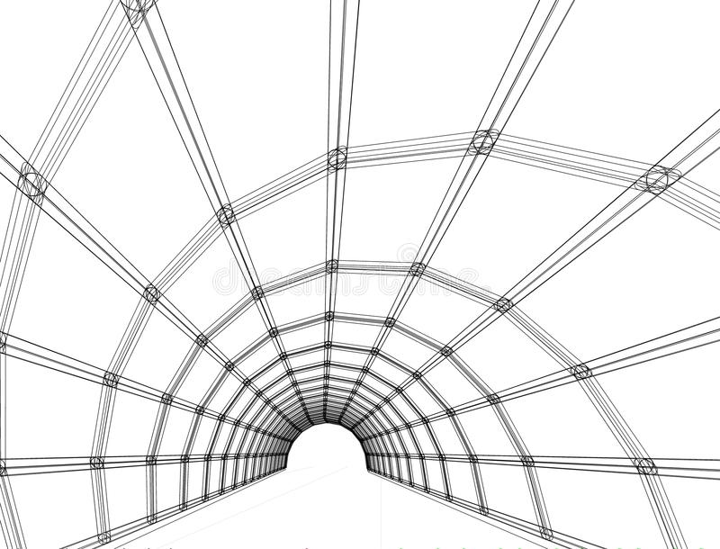 Desenho arquitetónico e perspectiva fotos de stock royalty free