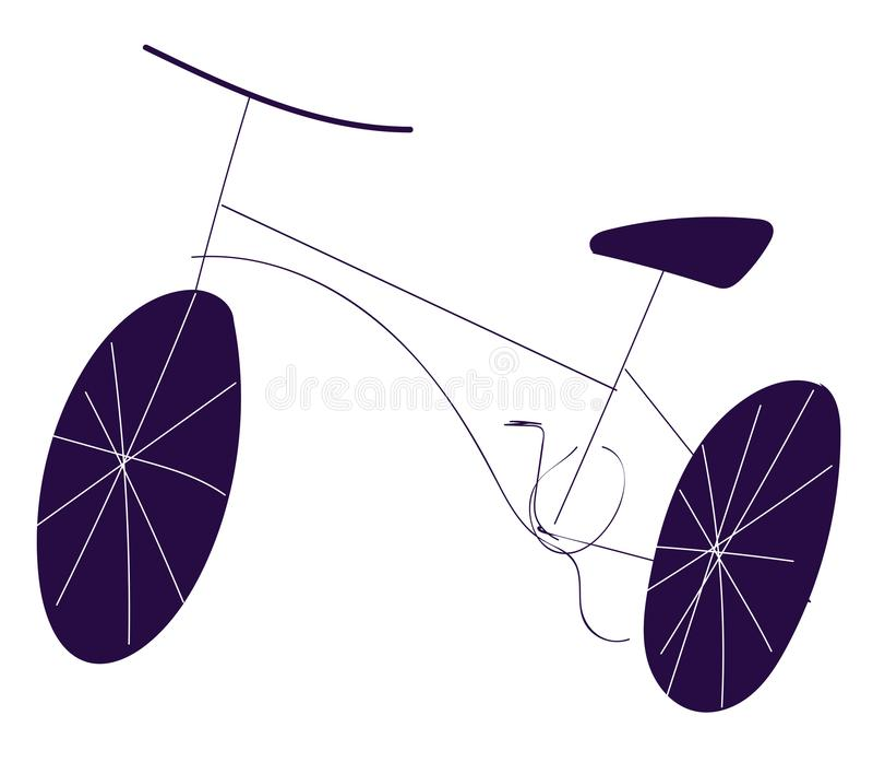 Desenho bruto do vetor de cor da ilustração de bicicleta ilustração royalty free