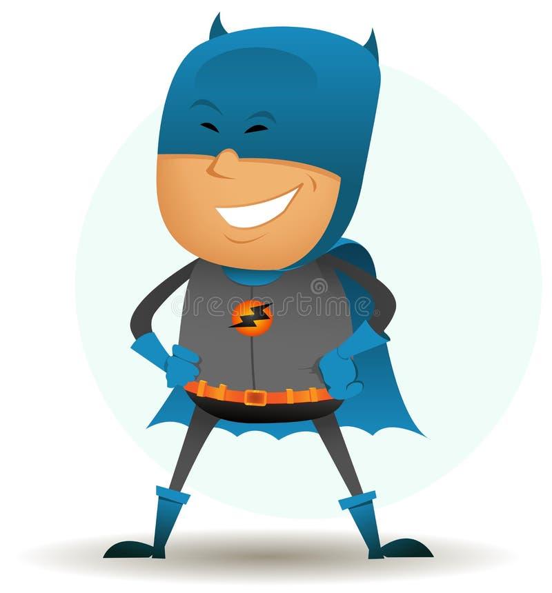 Desenho-cómico-super-herói-seis ilustração royalty free
