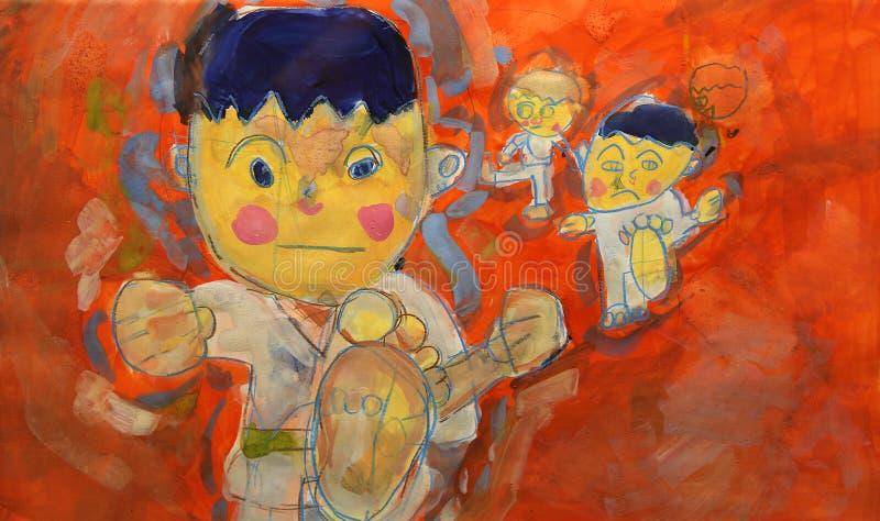 Desenho colorido da criança fotografia de stock royalty free