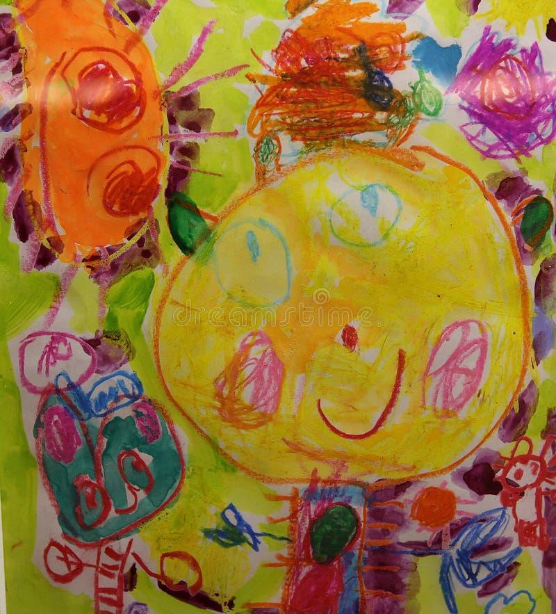 Desenho colorido da criança imagens de stock royalty free
