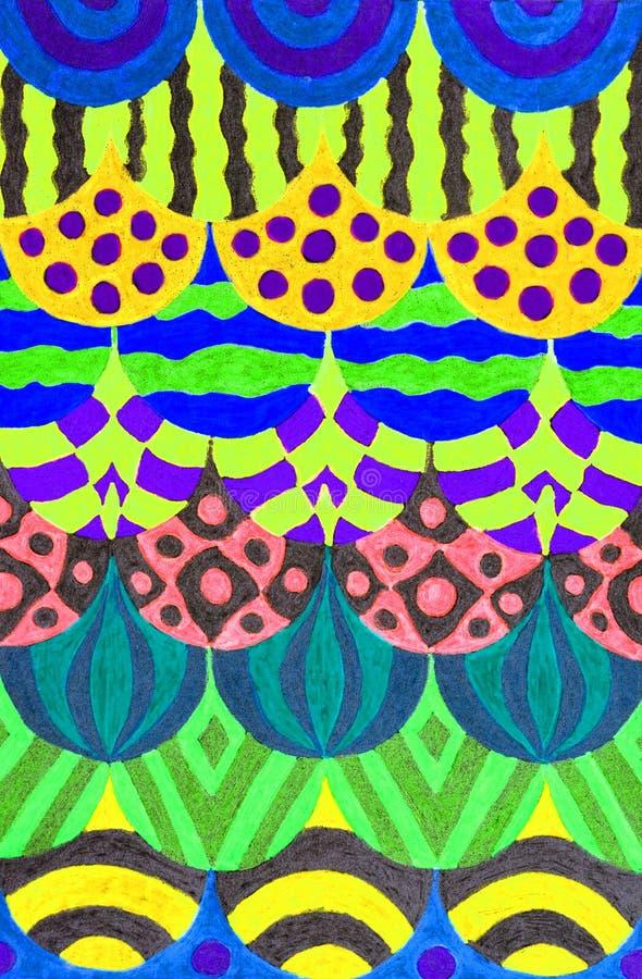 Desenho colorido da pena do gel foto de stock royalty free