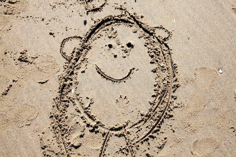 Desenho da areia da criança ilustração royalty free