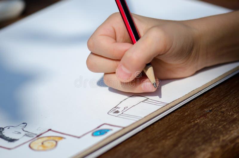 Download Desenho da criança foto de stock. Imagem de cute, criança - 26507888