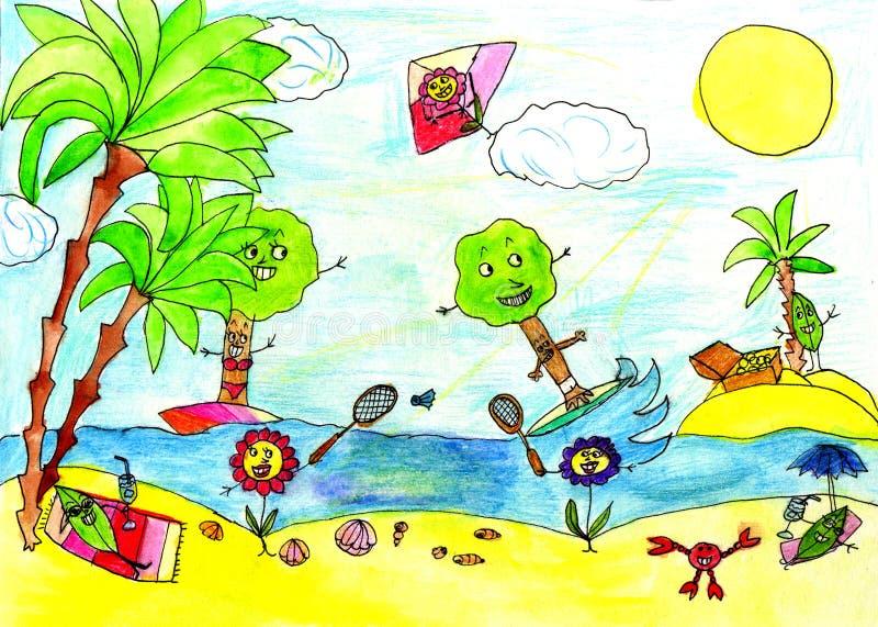 Desenho da criança ilustração do vetor