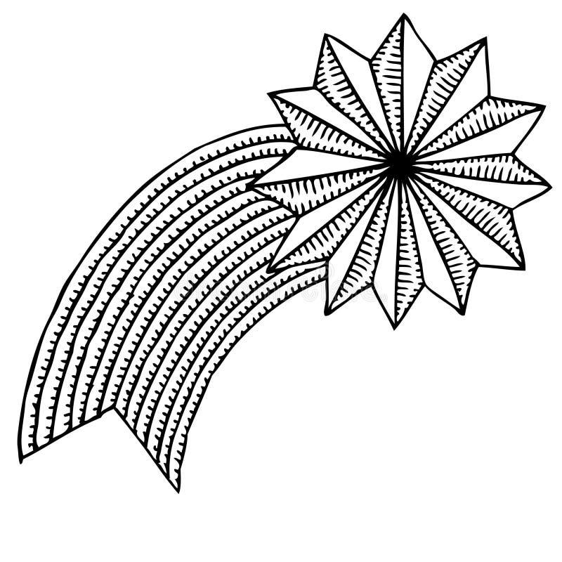 Desenho Da Estrela Do Natal Ilustracao Do Vetor Ilustracao De