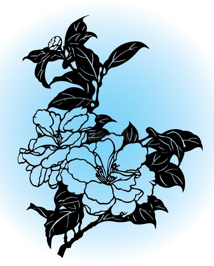 Desenho da flor ilustração do vetor
