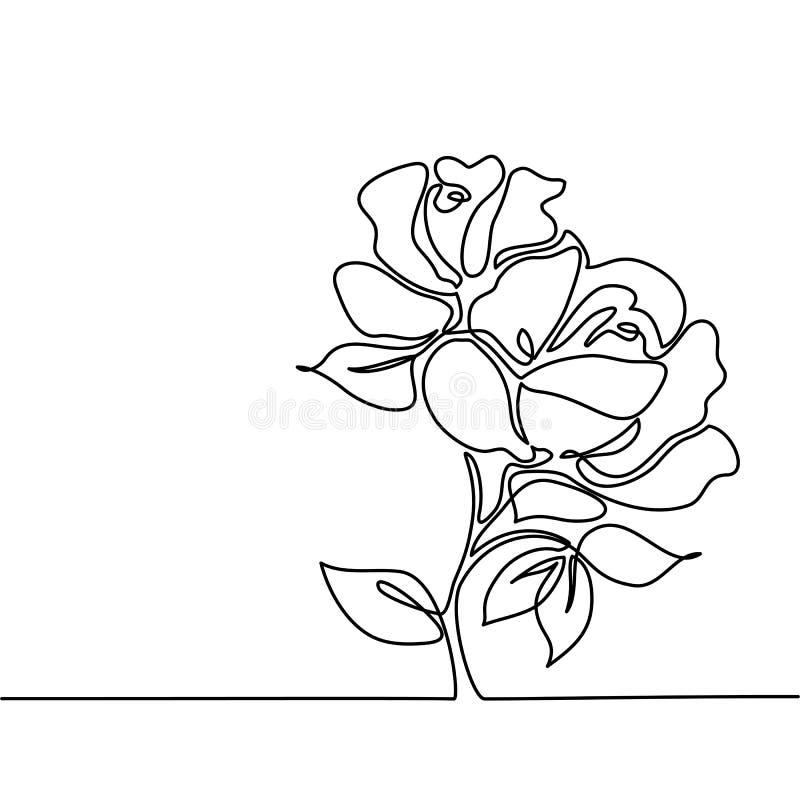 Desenho da flor bonita ilustração do vetor