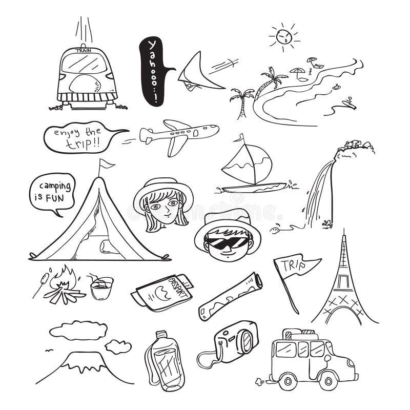 Desenho da garatuja do curso ilustração do vetor
